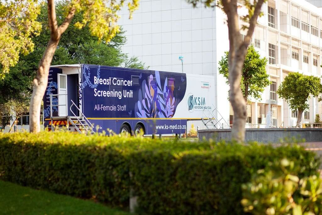 Breast cancer screening unit